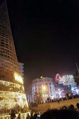 ダカール繁華街の夜